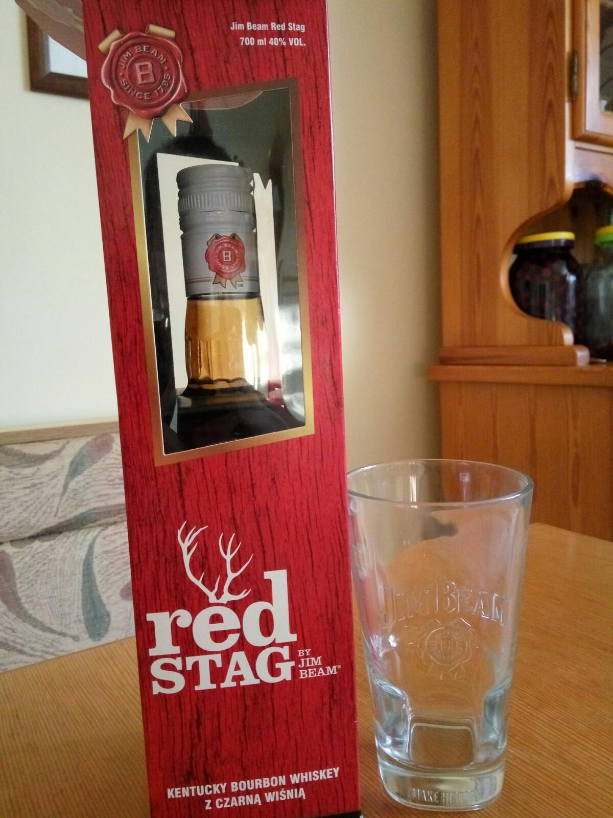 Jim Beam Red Stag 0,7 + szklanka Kaufland