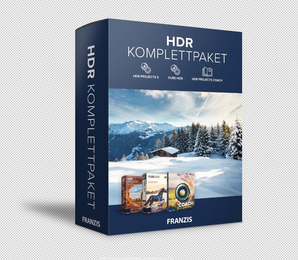 Kompletny Pakiet HDR - HDR Projects 5 + PURE HDR + Przewodnik po projektach HDR.