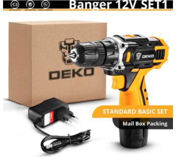 Wkrętarka akumulatorowa DEKO Banger 12V z wysyłką z Czech @AliExpress
