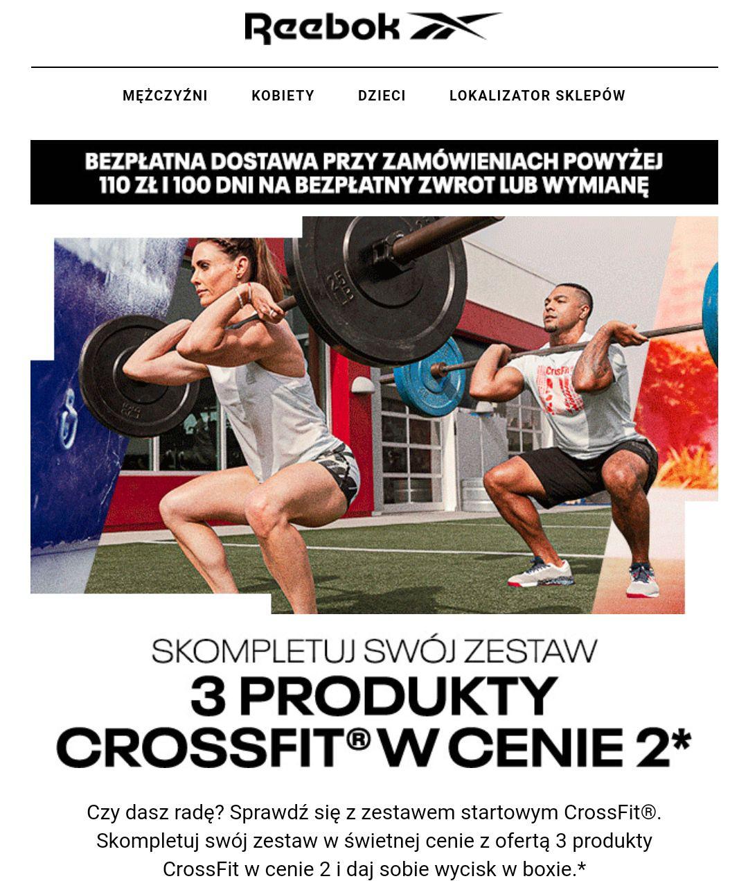 2+1 w Reebok na produkty Crossfit