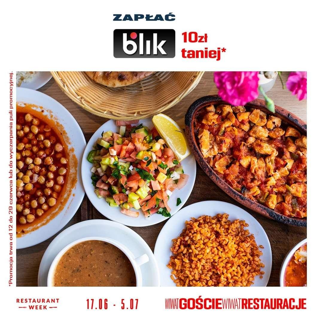 Restaurant Week z BLIK w dniach 12-19.30 dodatkowo rabat 10zł na rezerwację