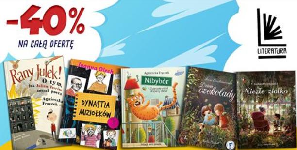 -40% na całą ofertę Wydawnictwa Literatura