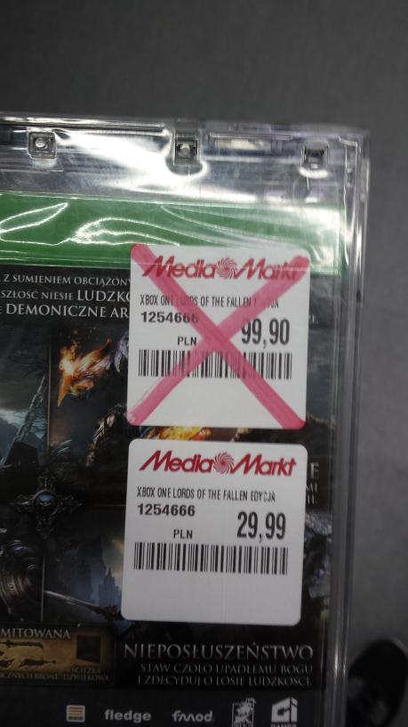 Lords Of The Fallen Edycja Limitowana Xbox One @Media Markt