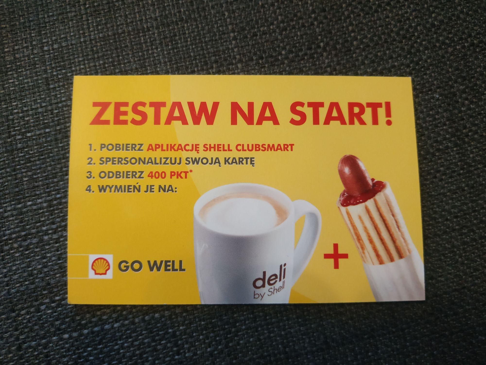 Shell clubsmart - 400pkt = darmowa kawa i hotdog za założenie karty