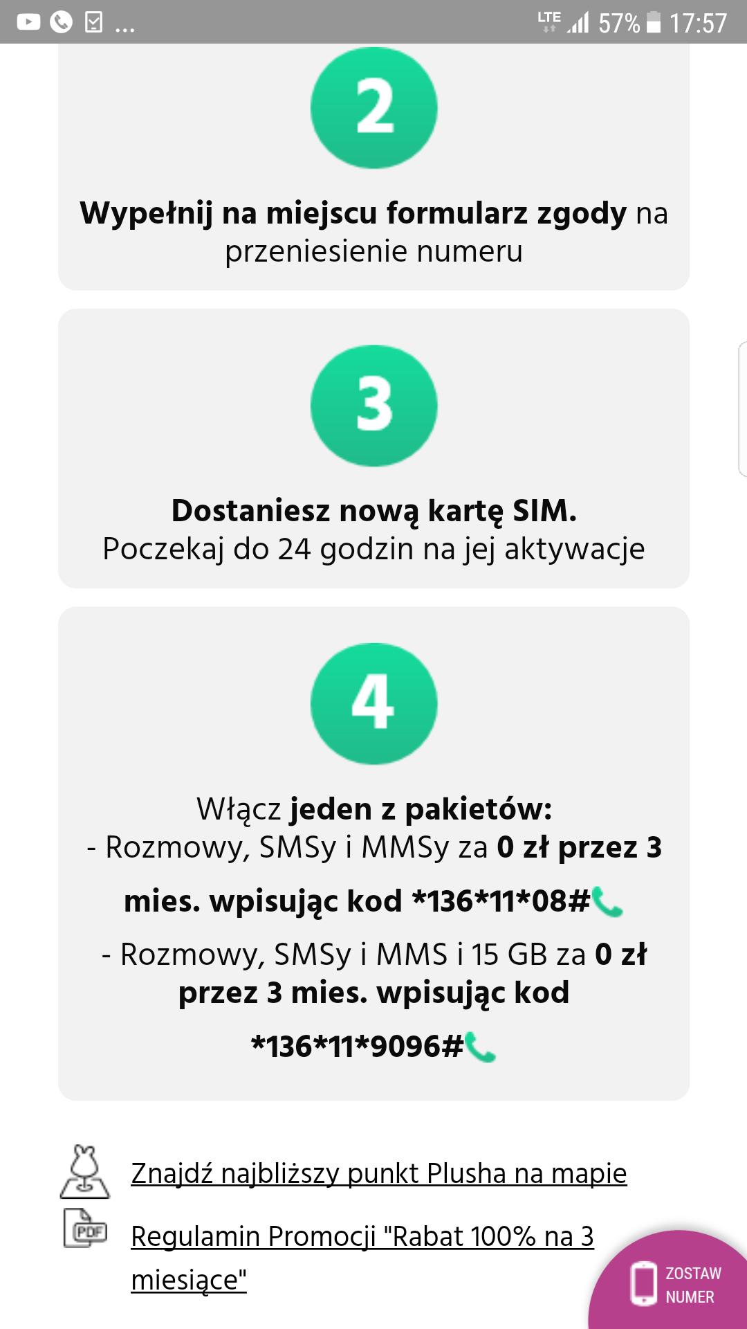 Przenieś numer do Plus/Plush (na kartę) i nie płać przez 3 miesiące za rozmowy, SMS, MMS i 15 GB