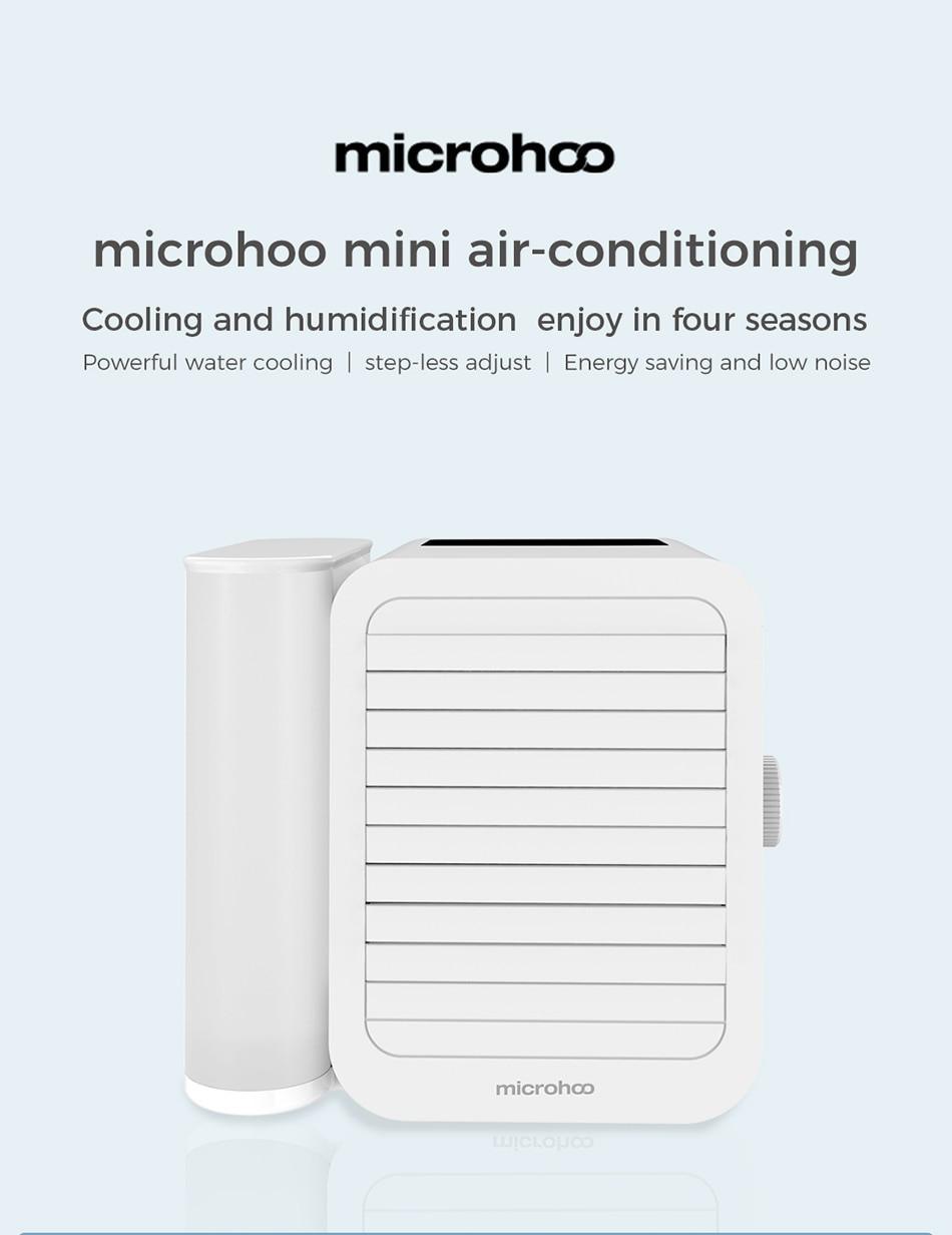 Klimatyzer xiaomi microhoo Mini Air Conditioner (1000ml pojemnik na wodę, zasilanie z USB-C) @ Dhgate