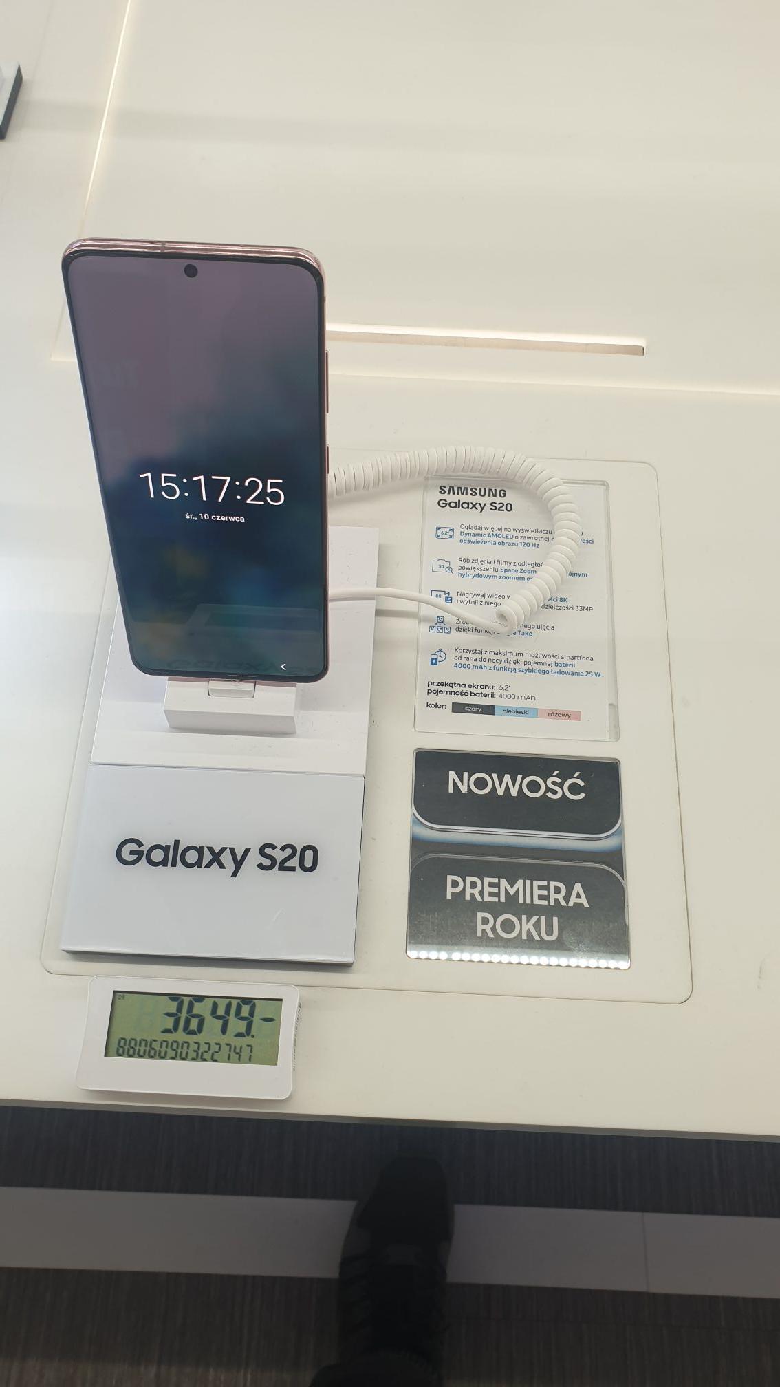 Samsung Galaxy s20 różowy Auchan Bielany Wro