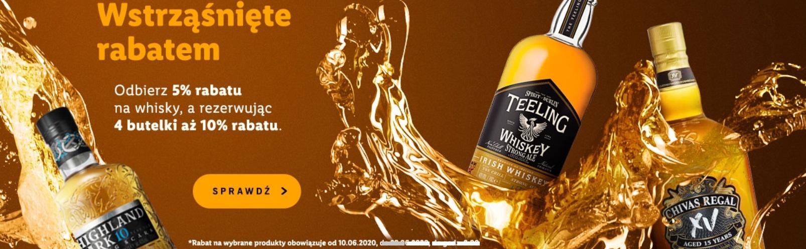 Wstrząśnięte rabatem - nowa promocja Winnicy Lidla na wybrane whisky