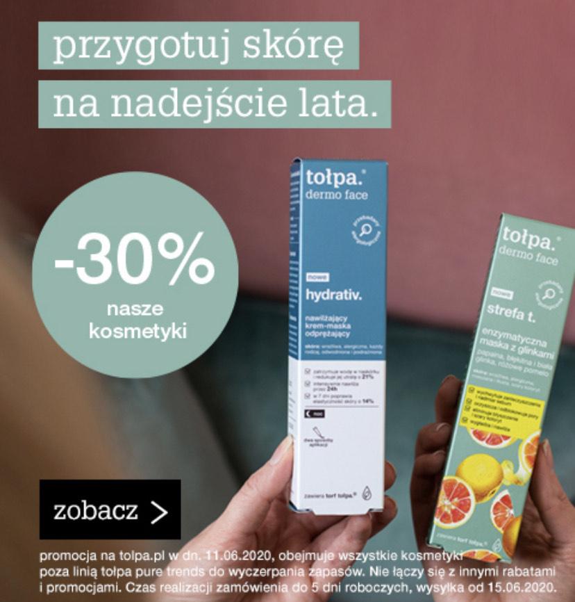 -30% na wszystkie kosmetyki Tołpa w oficjalnym sklepie.