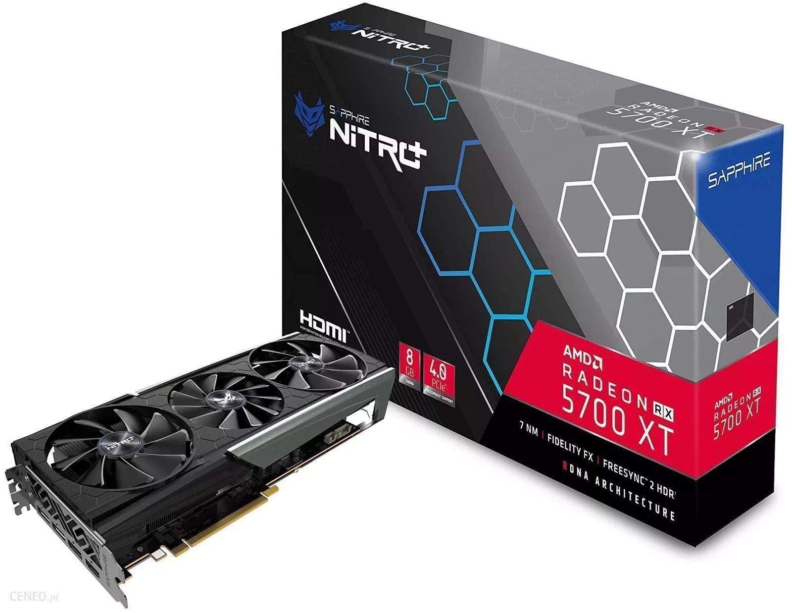 SAPPHIRE Nitro+ Radeon RX 5700 XT 8G 8192 MB GDDR6