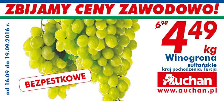 Winogrona sułtańskie kg @Auchan
