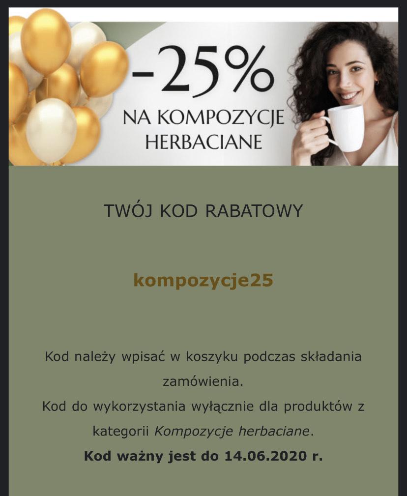 Czas na Herbatę -25% na kompozycje herbaciane