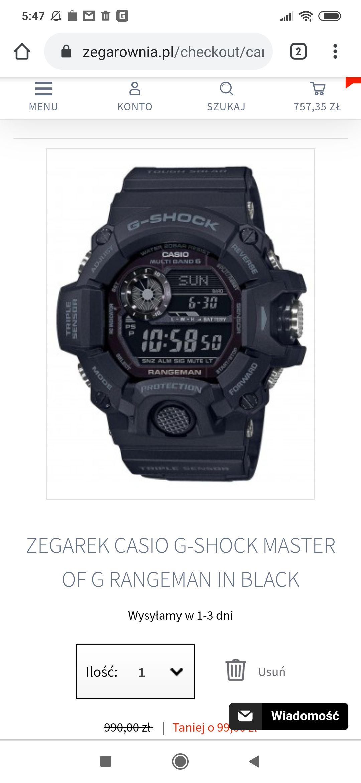 ZEGAREK CASIO G-SHOCK MASTER OF G RANGEMAN IN BLACK