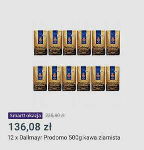 12 x Dallmayr Prodomo 500g kawa ziarnista- Allegro Smart