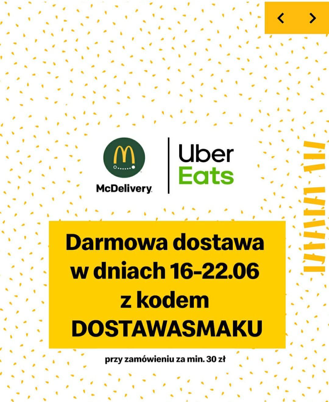 Darmowa dostawa UberEats