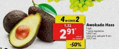 Avocado Hass 4 w cenie 2 2,91 zł / szt. przy zakupie 4 szt. @Lidl
