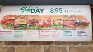 Subway | Dowolny Sub of The Day za 8,95 | Nowe SoTD