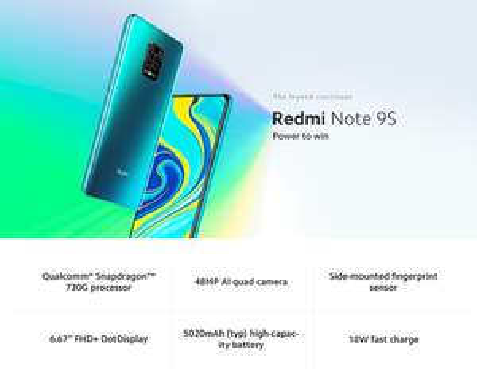 Xiaomi Redmi Hinweis 9S 4GB 64GB