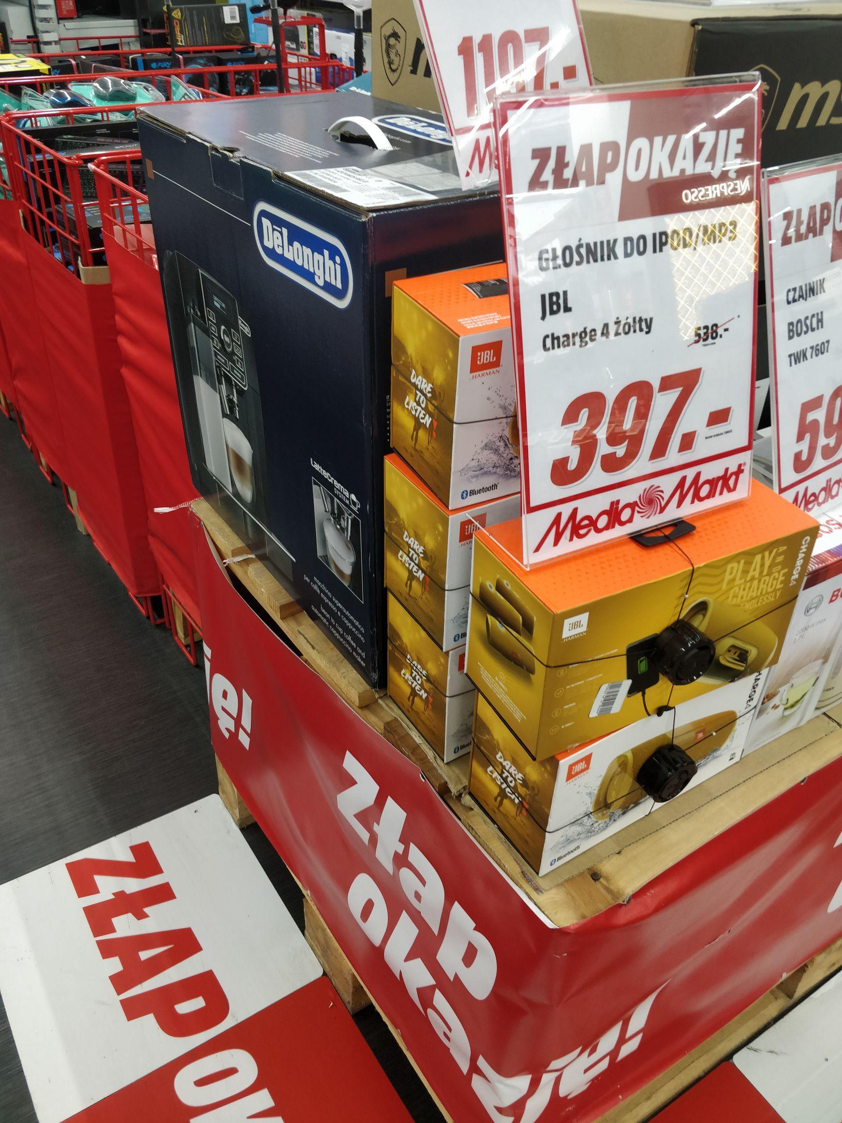 JBL Charge 4 żółty, Media Markt Wroclavia