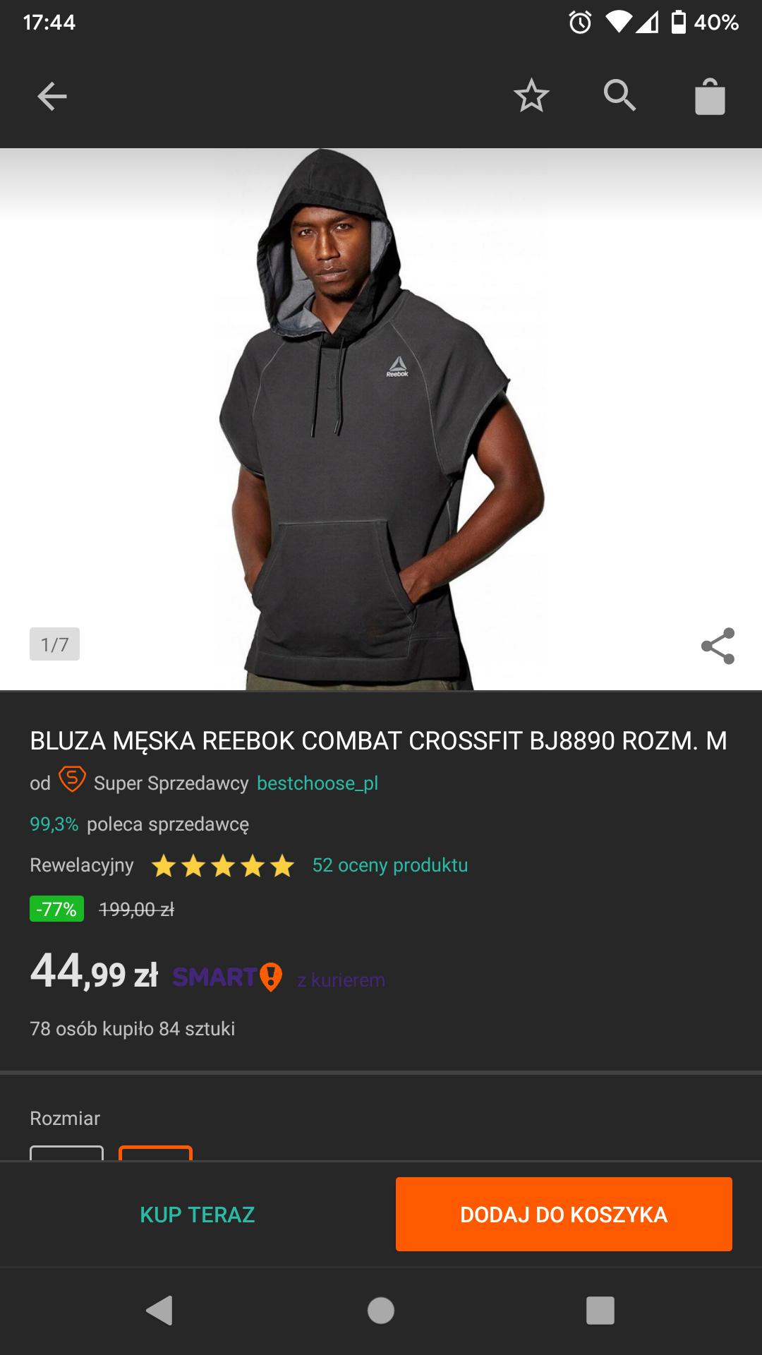 Bluza Reebok Combat Crossfit
