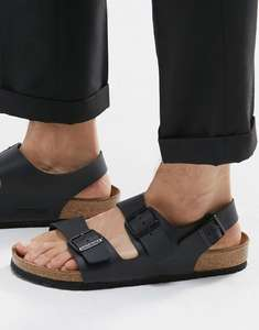 Męskie sandały BIRKENSTOCK Milano Schwarz @Eobuwie