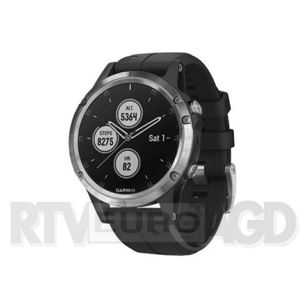 Garmin Fenix 5 Plus (srebrny z czarnym paskiem) RTV euro AGD