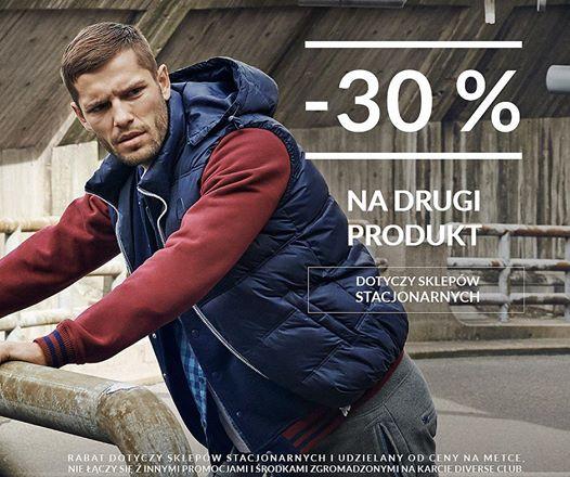 -30% rabatu na drugi produkt w sklepach stacjonarnych @ Diverse