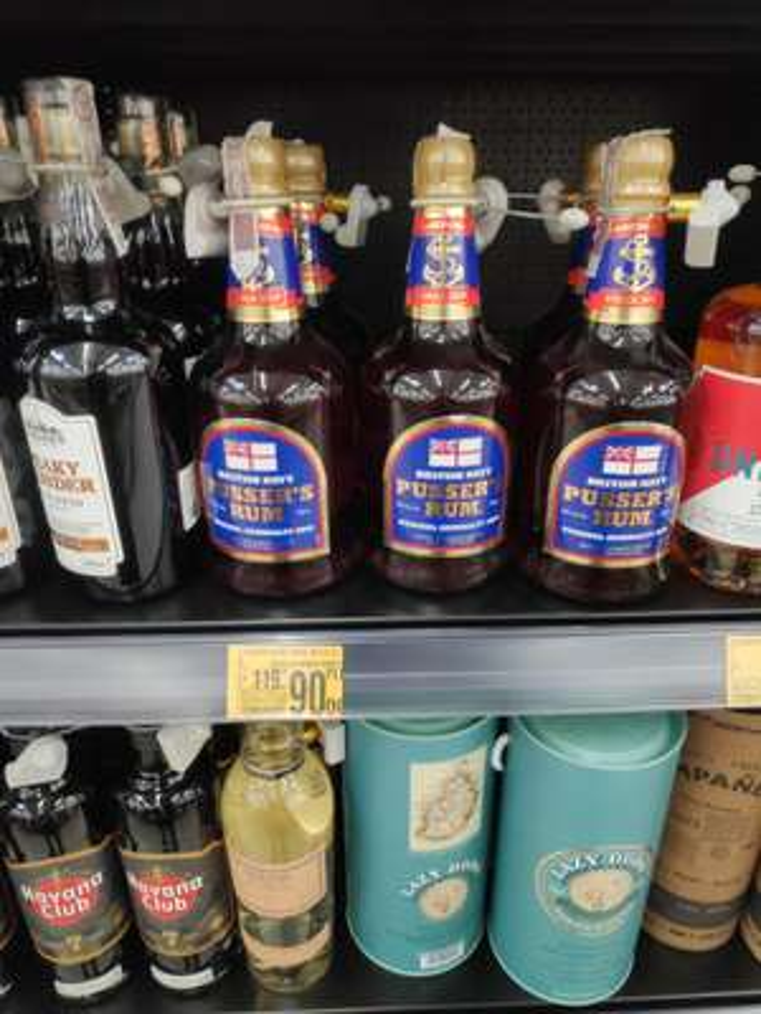 Rum pusser's blue label Auchan