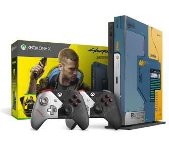 Xbox One X Cyberpunk 2077 Limited Edition + 2 pady (5 sztuk)