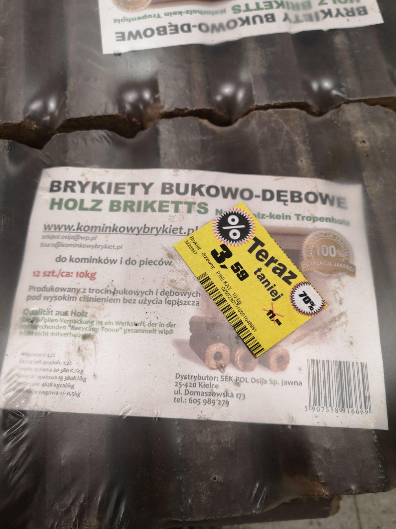 Brykiet Bukowo - dębowy OBI