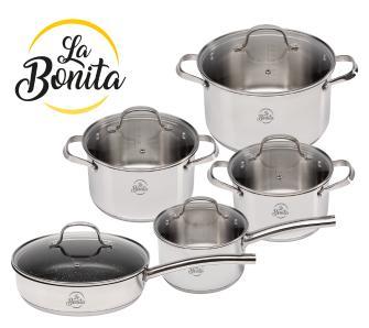 Zestaw garnków La Bonita Maxima 10 elementów @OleOle