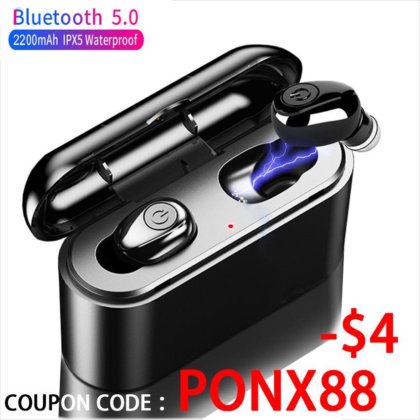 Bezprzewodowe słuchawki X8 TWS Bluetooth 5D Stereo Mini TWS wodoodporne 2200mAh Power Bank