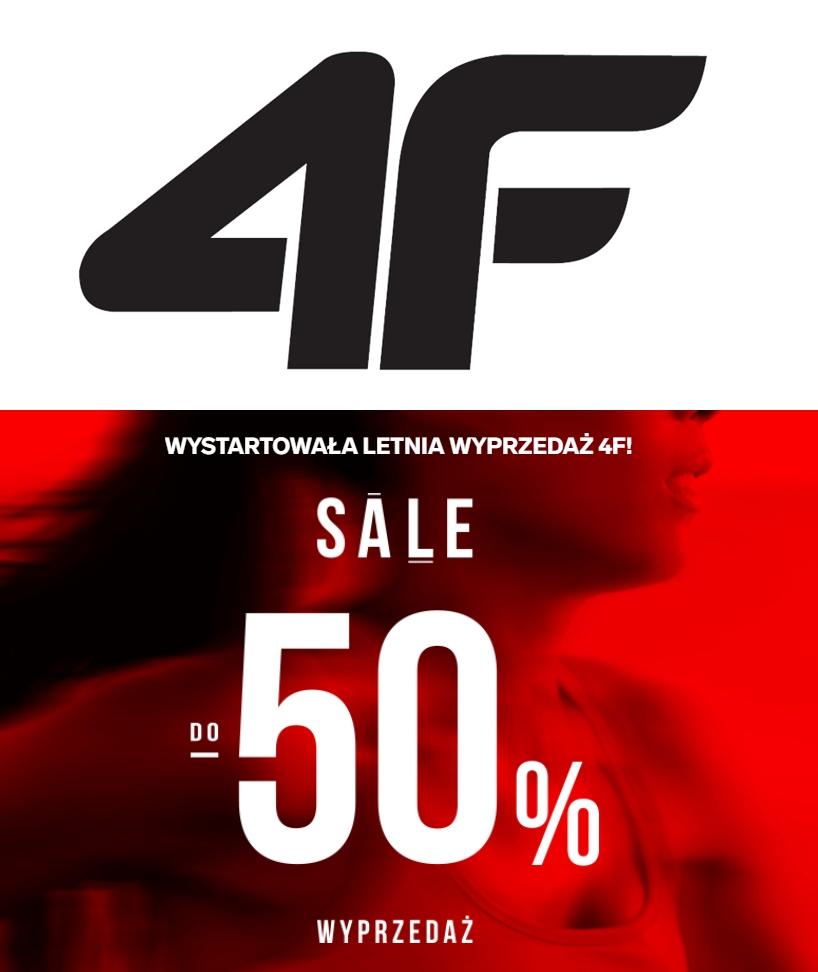 Sezonowa wyprzedaż odzieży sportowej 4F - do 50% taniej - plus 10% zniżki z kodem