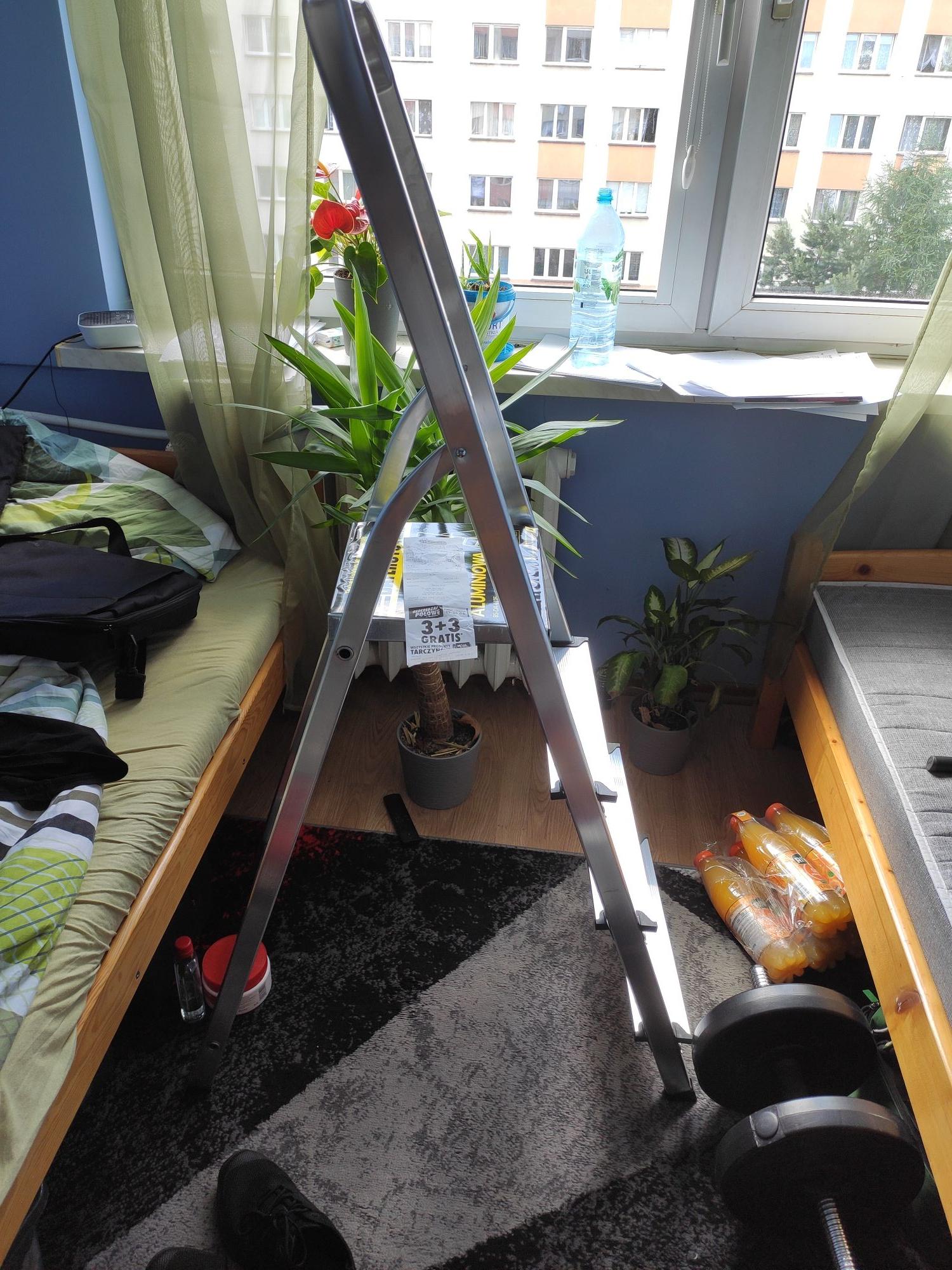 Drabina aluminiowa biedronka cena za 2 sztuki