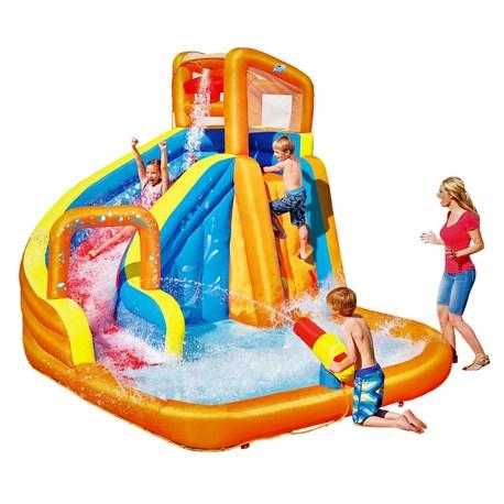 Dmuchany plac zabaw z basenem - Bestway Turbo Splash Water Zone (elektryczna pompka w zestawie) @ Jula
