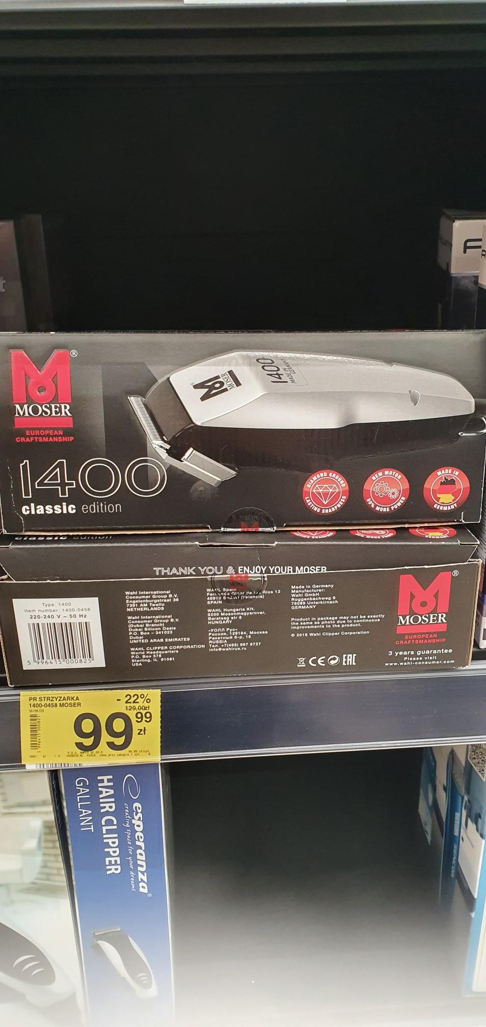 Maszynka do strzyżenia Moser 1400 Carrefour