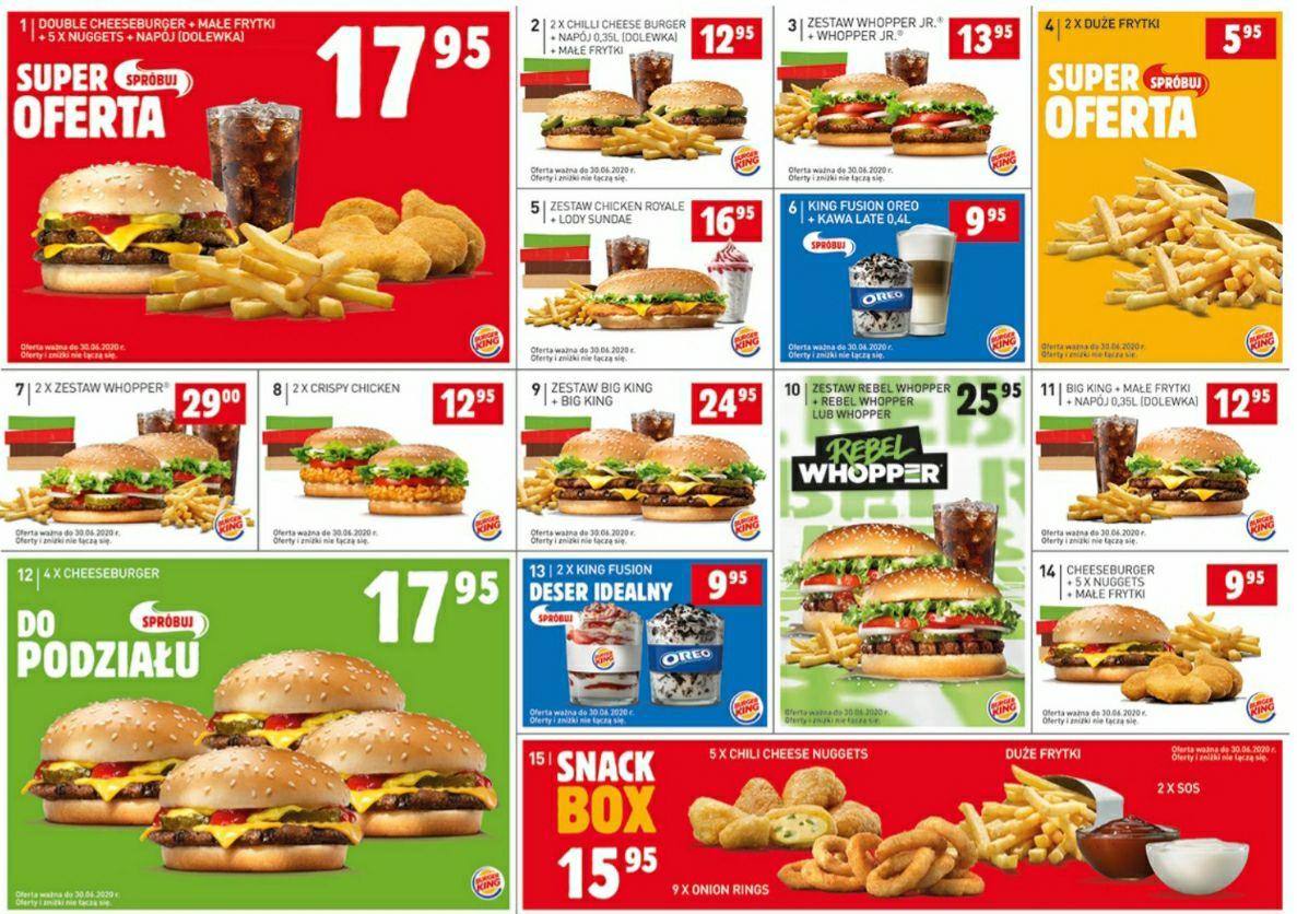 Kupony do Burger Kinga ważne do końca czerwca
