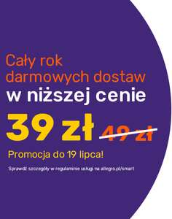 Allegro Smart na rok - taniej o 10 zł