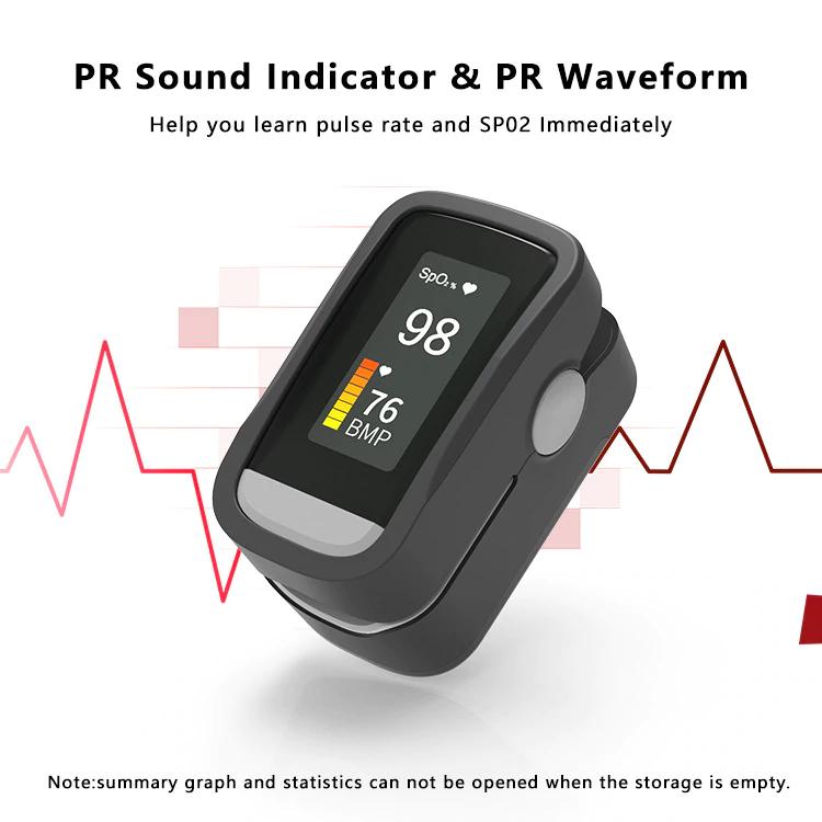 Monitor miernik tlenu i tętna pulsoksymetr napalcowy nasycenia tlenem we krwi