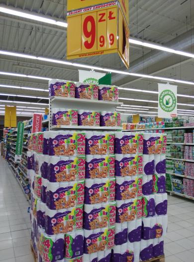 Mega tanie wycieranie :) Papier 24szt. za 9.99 @Auchan