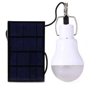 Lampa LED 130LM z akumulatorem + panel Solarny  0.8W/5V