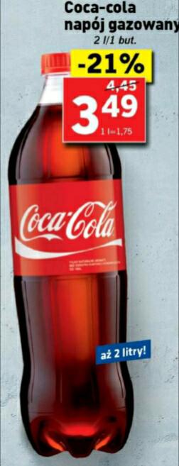 Coca Cola 2l za 3.49 zł LIDL
