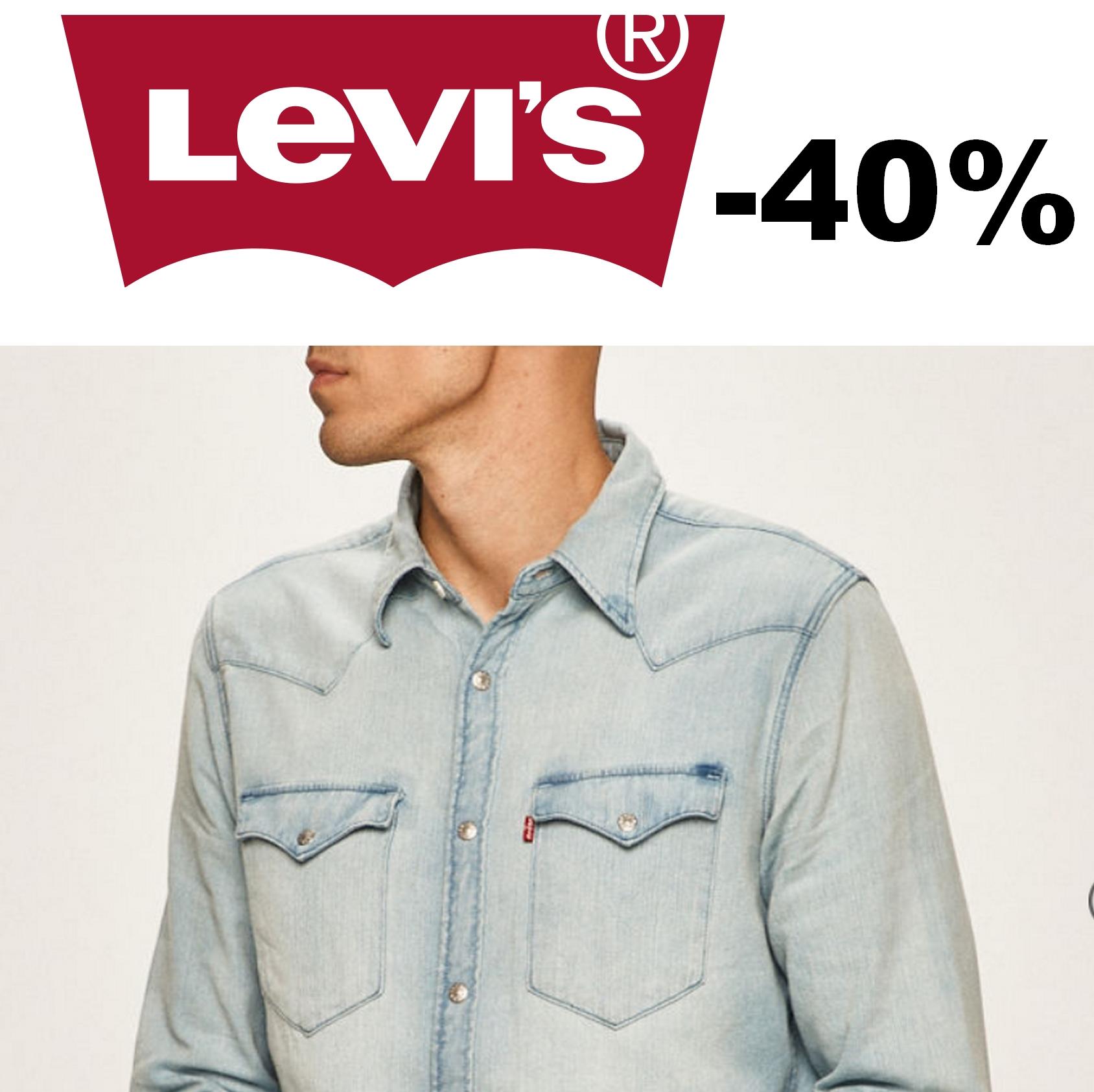 Levi's - zestawienie męskiej odzieży do -50% taniej oraz -50zł w aplikacji