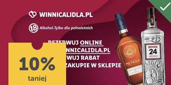 10% taniej na Gin i Brandy - Winnica Lidla