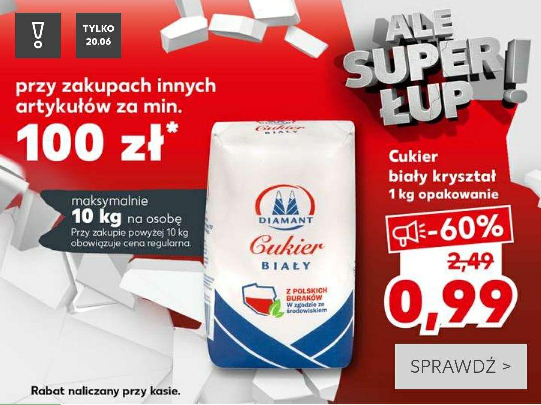 Kaufland: Cukier za 0.99zł przy zakupach innych produktów za min. 100zł