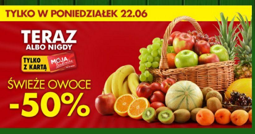Voucher -50% (maks 15 zł na kartę MB) za zakup świeżych owoców