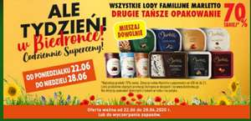 Lody marletto familijne drugie -70% - biedronka