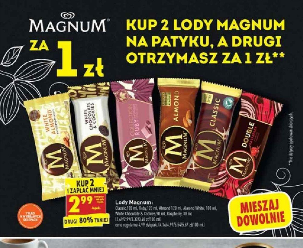Lody Magnum. Kup 2 i zapłać mniej. Biedronka