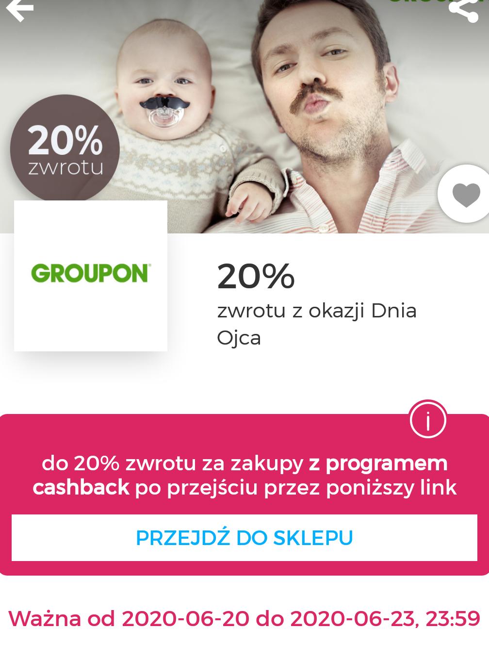 20% zwrotu w Goodie za zakupy na Groupon
