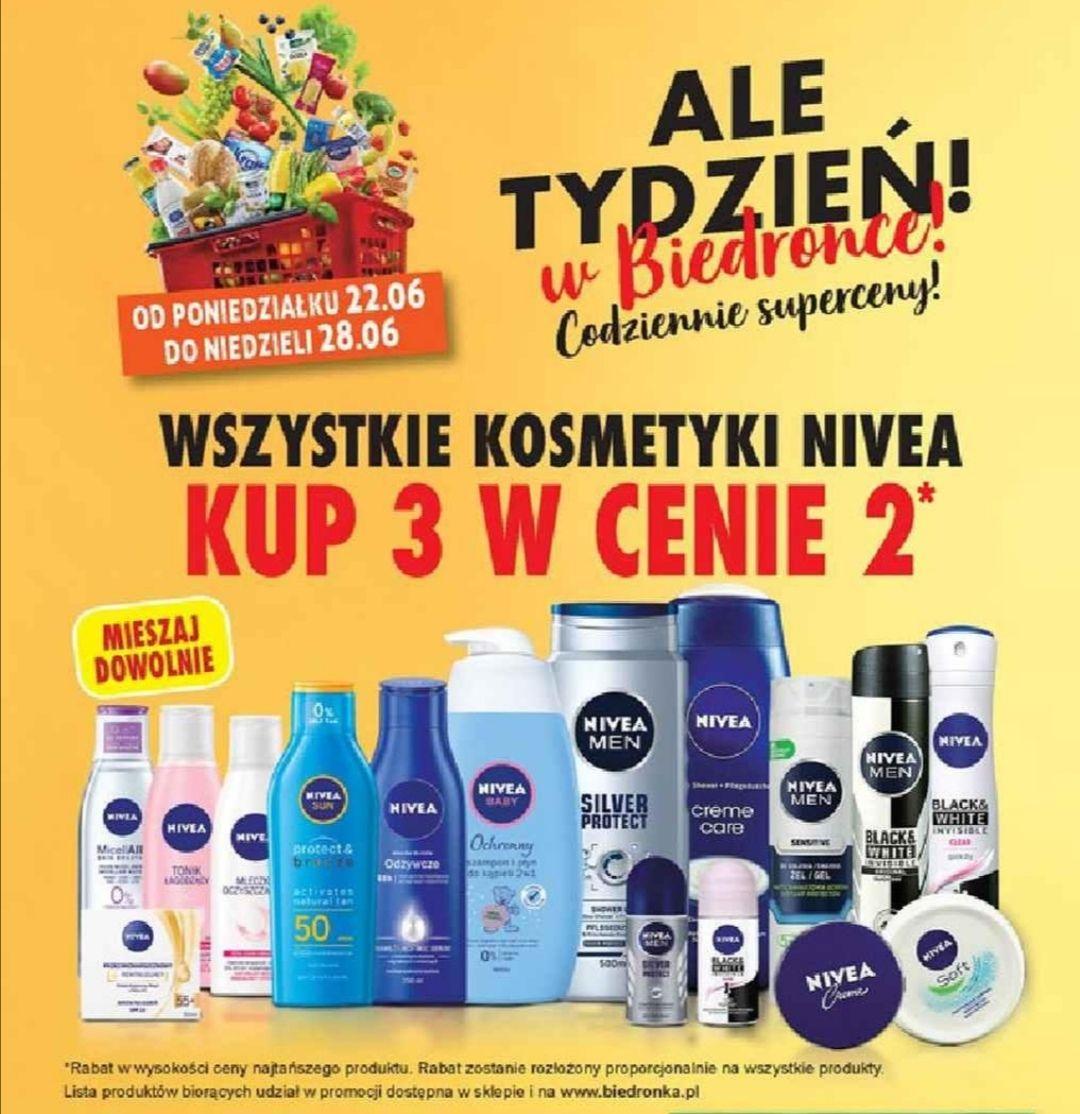 Biedronka kosmetyki nivea 3 w cenie 2